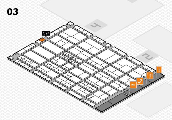 K 2016 hall map (Hall 3): stand C94