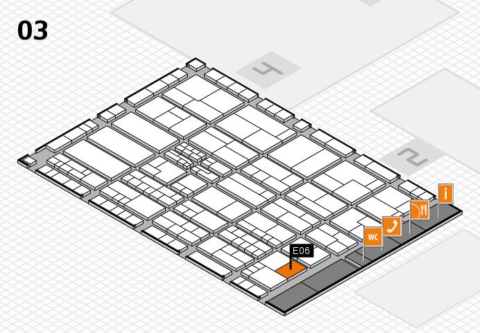 K 2016 hall map (Hall 3): stand E06