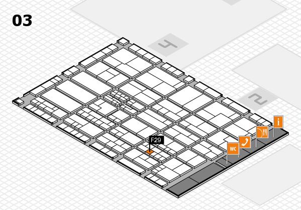 K 2016 hall map (Hall 3): stand F29