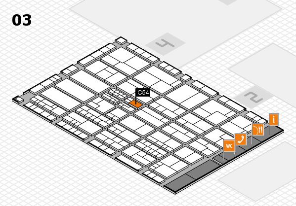 K 2016 hall map (Hall 3): stand C54