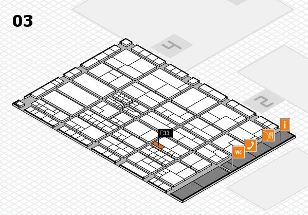 K 2016 hall map (Hall 3): stand E33