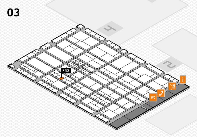 K 2016 hall map (Hall 3): stand F63