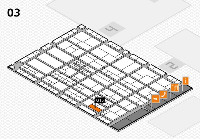 K 2016 hall map (Hall 3): stand G15