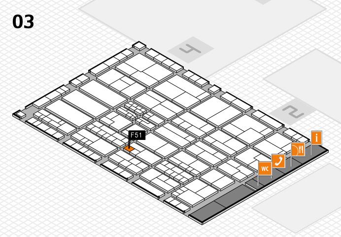 K 2016 hall map (Hall 3): stand F51