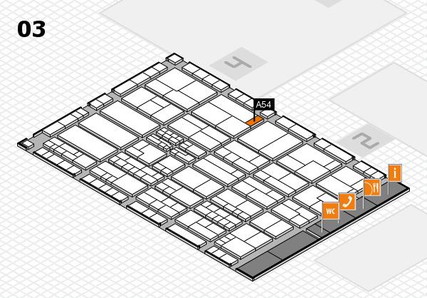 K 2016 hall map (Hall 3): stand A54