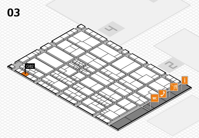 K 2016 hall map (Hall 3): stand G82