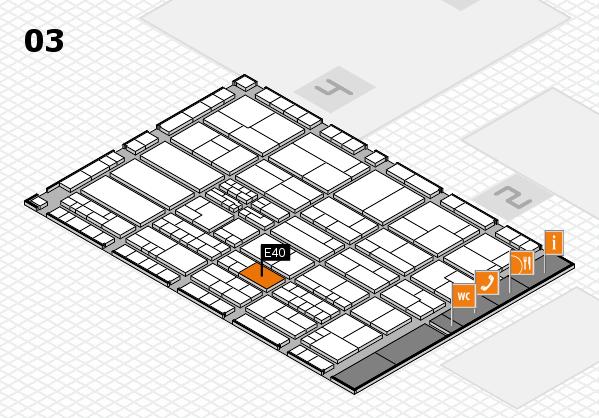 K 2016 hall map (Hall 3): stand E40
