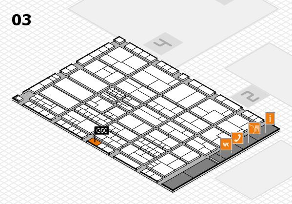 K 2016 hall map (Hall 3): stand G50