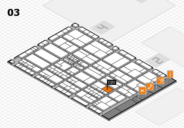 K 2016 hall map (Hall 3): stand D20