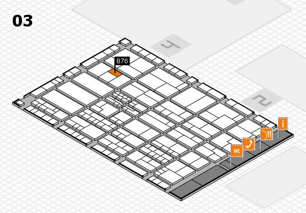 K 2016 hall map (Hall 3): stand B76