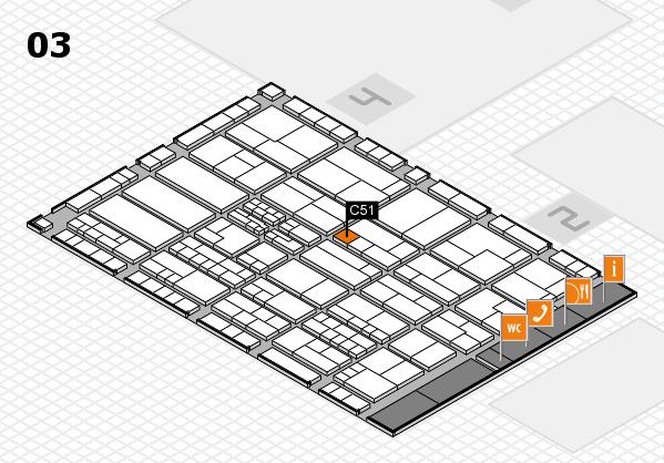 K 2016 hall map (Hall 3): stand C51