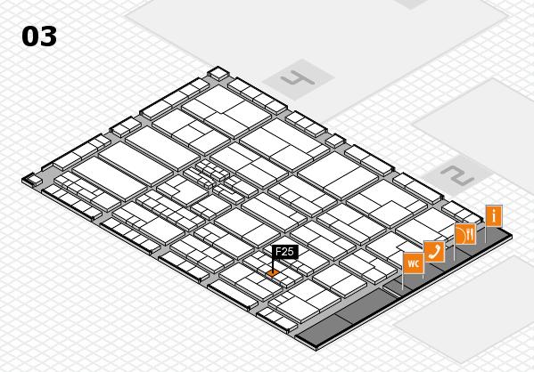 K 2016 hall map (Hall 3): stand F25