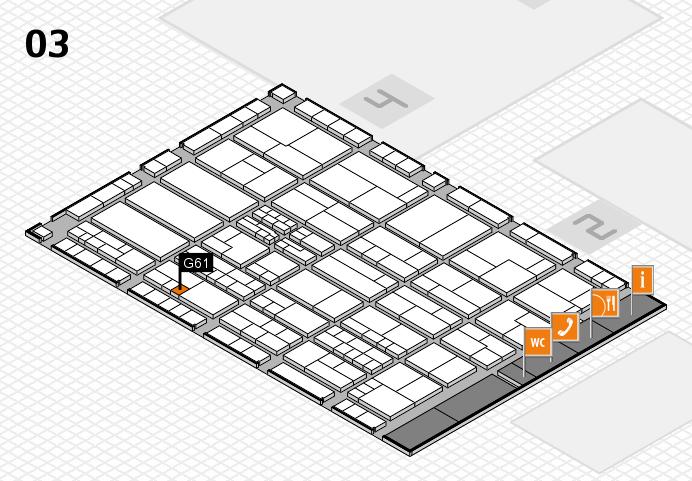 K 2016 hall map (Hall 3): stand G61