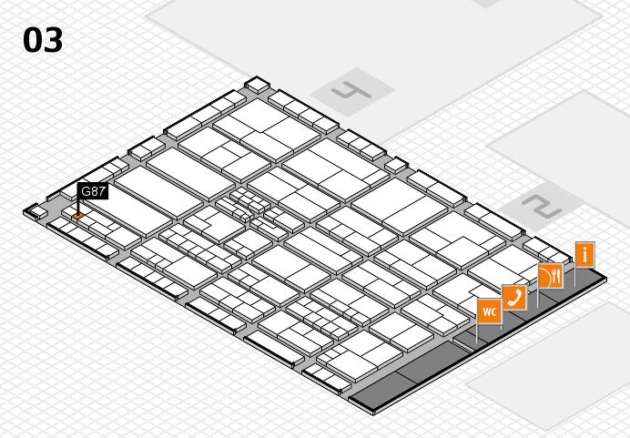 K 2016 hall map (Hall 3): stand G87