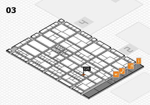 K 2016 hall map (Hall 3): stand E25