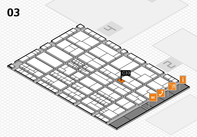 K 2016 hall map (Hall 3): stand C33