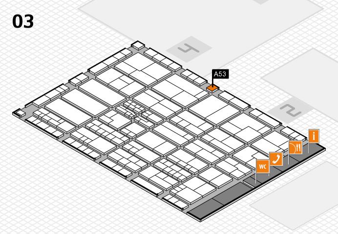 K 2016 hall map (Hall 3): stand A53
