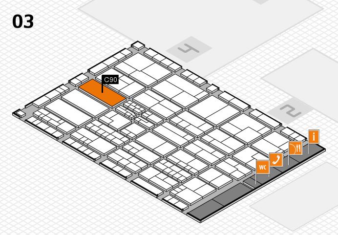 K 2016 hall map (Hall 3): stand C90