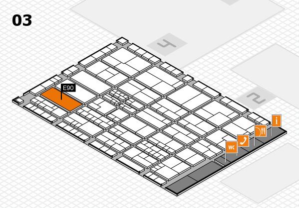 K 2016 Hallenplan (Halle 3): Stand E90