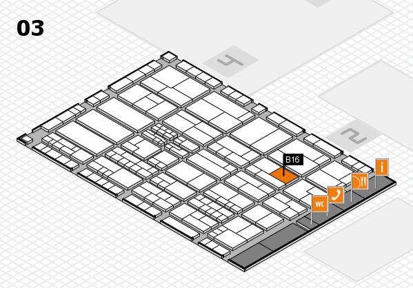K 2016 hall map (Hall 3): stand B16