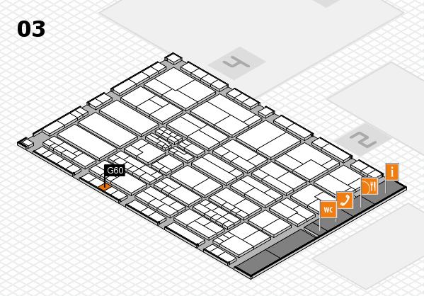 K 2016 hall map (Hall 3): stand G60