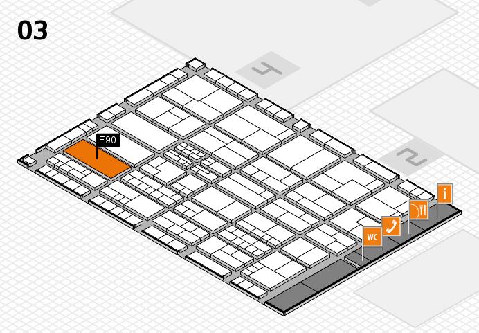 K 2016 hall map (Hall 3): stand E90