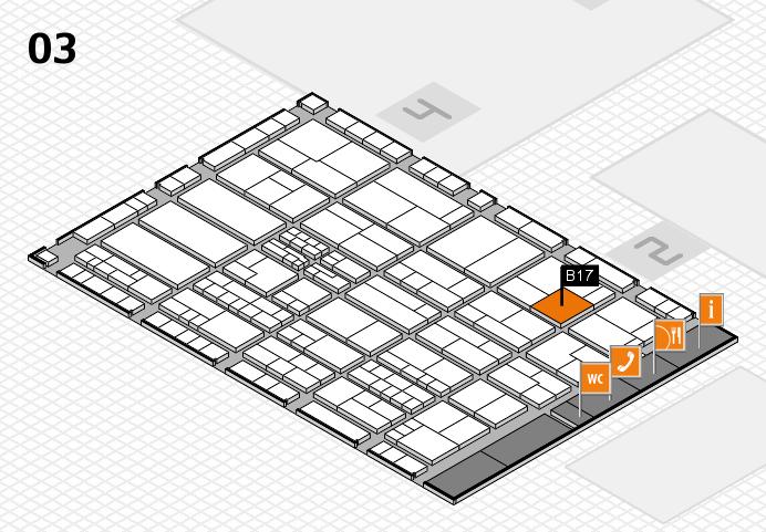 K 2016 hall map (Hall 3): stand B17
