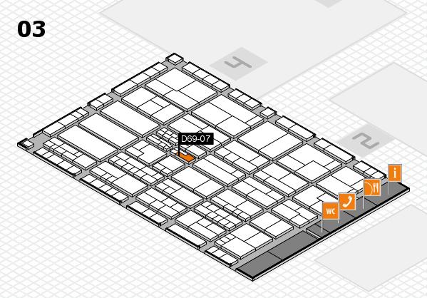 K 2016 hall map (Hall 3): stand D69-07