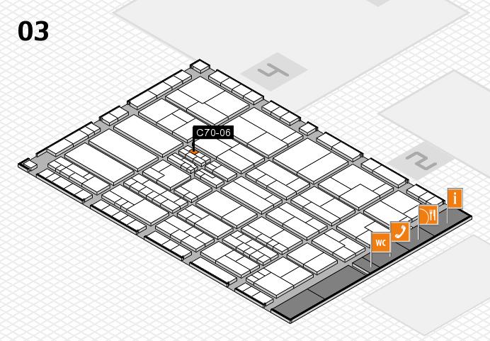K 2016 hall map (Hall 3): stand C70-06