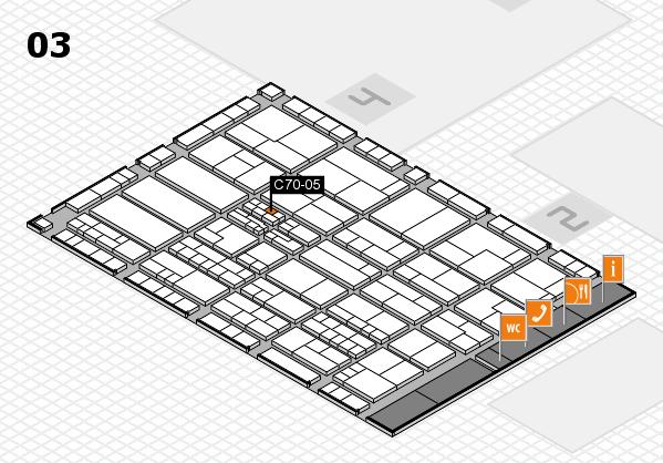 K 2016 hall map (Hall 3): stand C70-05