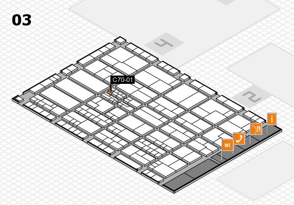 K 2016 hall map (Hall 3): stand C70-01