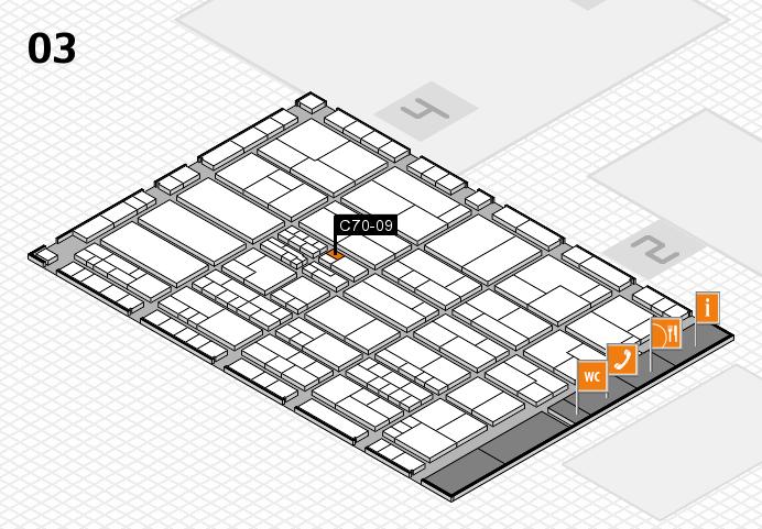 K 2016 hall map (Hall 3): stand C70-09