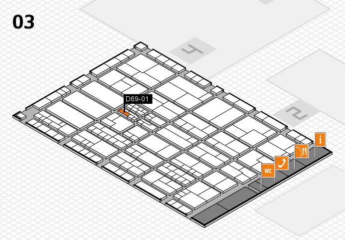 K 2016 hall map (Hall 3): stand D69-01