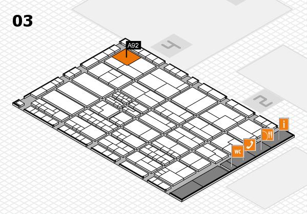 K 2016 hall map (Hall 3): stand A92