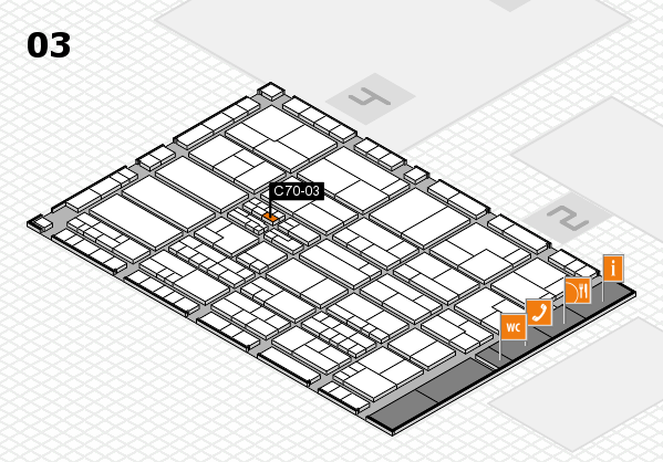 K 2016 hall map (Hall 3): stand C70-03