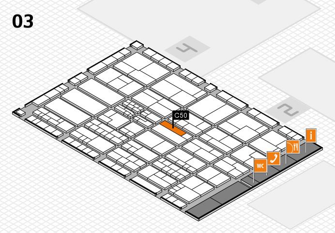 K 2016 hall map (Hall 3): stand C50