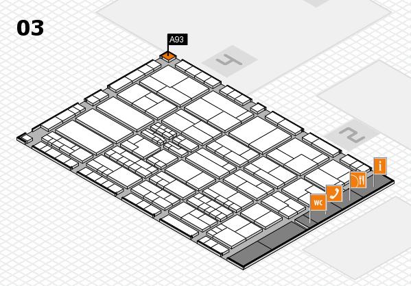 K 2016 hall map (Hall 3): stand A93