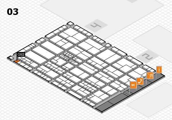 K 2016 hall map (Hall 3): stand G92