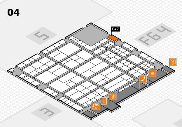 K 2016 hall map (Hall 4): stand E47