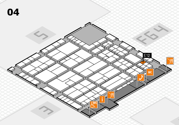 K 2016 hall map (Hall 4): stand E12