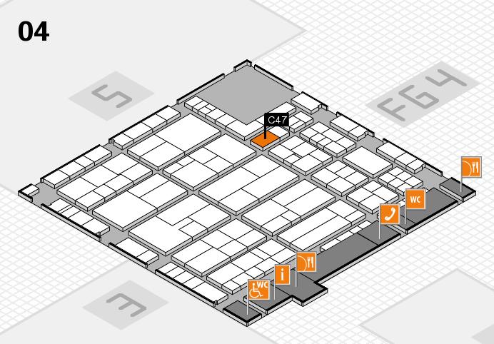 K 2016 hall map (Hall 4): stand C47