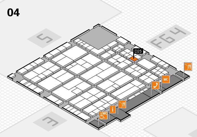K 2016 hall map (Hall 4): stand D25