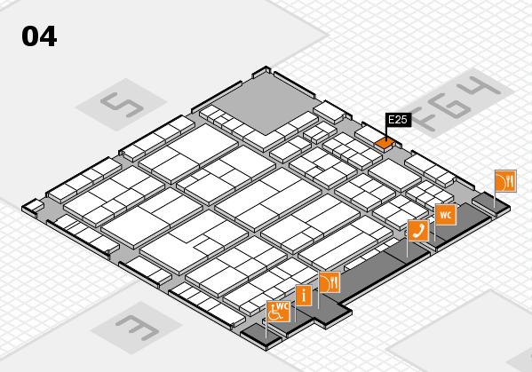 K 2016 Hallenplan (Halle 4): Stand E25