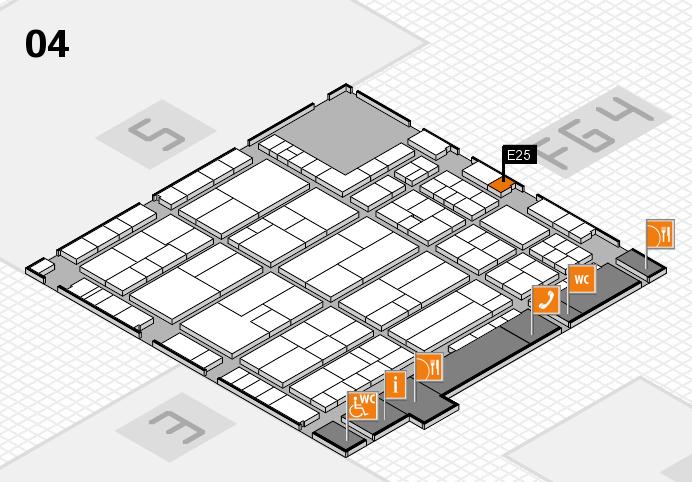 K 2016 hall map (Hall 4): stand E25