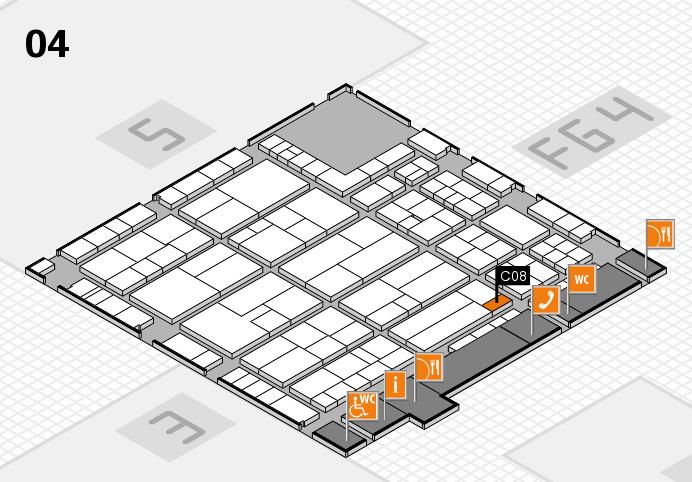 K 2016 hall map (Hall 4): stand C08