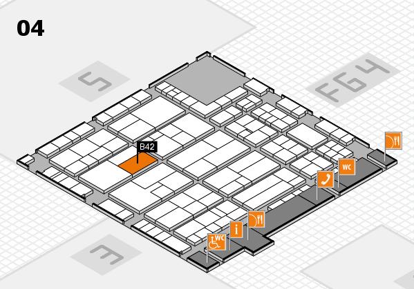 K 2016 hall map (Hall 4): stand B42