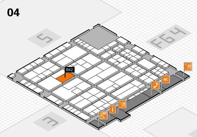K 2016 Hallenplan (Halle 4): Stand B42