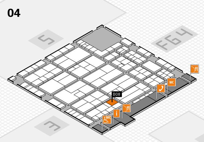 K 2016 hall map (Hall 4): stand B08