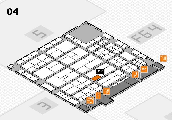 K 2016 Hallenplan (Halle 4): Stand B17