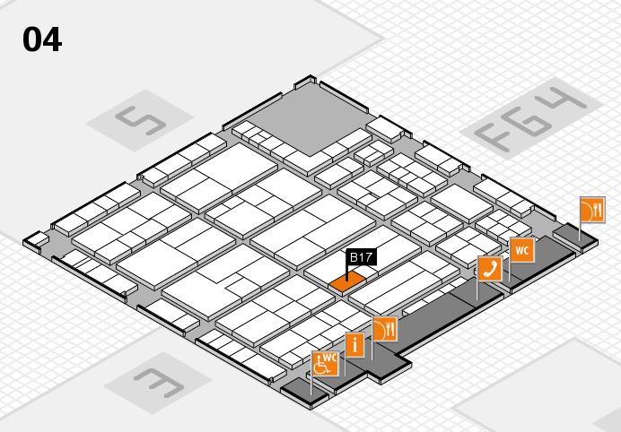 K 2016 hall map (Hall 4): stand B17